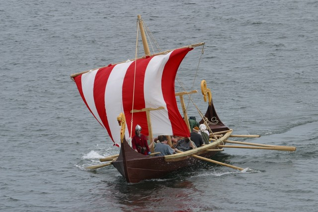Picture of a Viking longboat in full sail. Copyright: John Doherty Northern Ireland. With thanks for allowing us to use this picture.