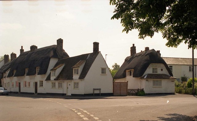 White Cottages situated in Granchester