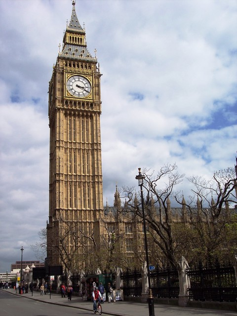 The 320 ft (98 m) Clock Tower (also known as: Saint Stephen's Tower)housing Big Ben is one of the features that makes the Palace of Westminster (Houses of Parliament) such a familiar landmark. The bell (Big Ben) chimes on the hour, and the tower is home to the largest clock face in the country. The ...