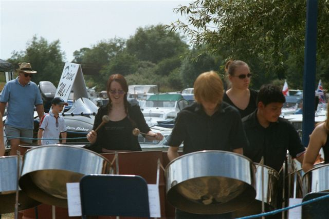 Performing in Priory Marina in 2003