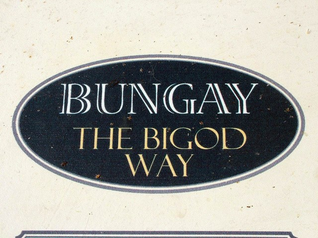 Hugh Bigot and his decendants are still remembered in the town signs at Bungay