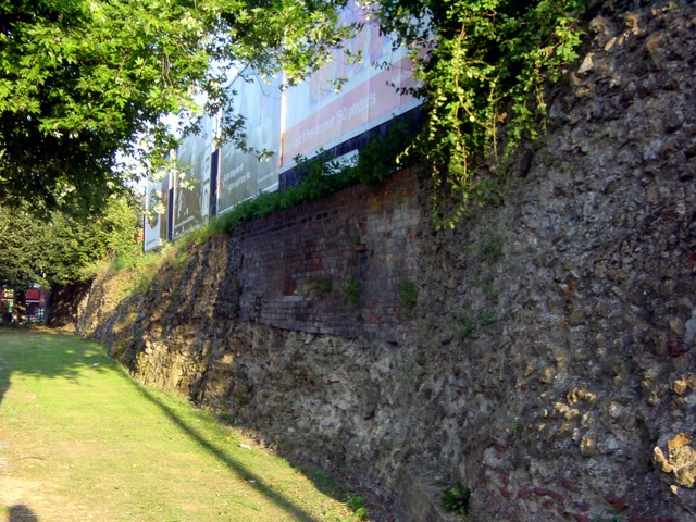 During the English Civil War in 1648, a ring of small forts was constructed around the perimeter of the town where siege cannons were mounted to batter the town walls. The whole south west corner of the town wall was heavily damaged by cannon fire and much of it is missing.  The many brick sections ...