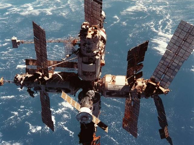 The possibility of living in space was raised by the Russian space station Mir, which saw the first long term occupation of a space station by humans.  Mir has now been replaced by an International Space Station. 