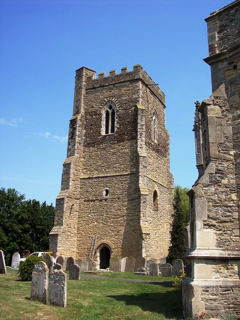The churches in Marston Moretaine and the neighbouring village of Elstow are unusual in that they have towers separate from the main church building. Legend says when the towers were built they were joined to the church, but the Devil tried to show his strength by stealing them. He failed in this bu...