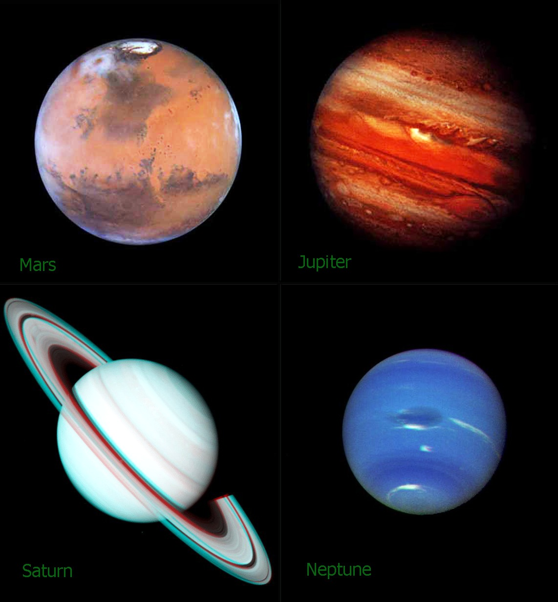 Hubble Telescope and the Planets: NEN Gallery