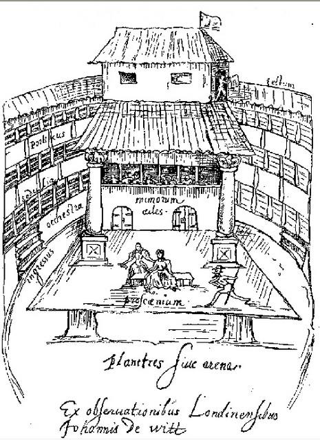 Up until this time theatres had been open to the English weather, but in 1609 Shakespeare's company took over Blackfriars, an indoor hall, as their winter headquarters. It was artificially lit and being an all-seater theatre this made theatre going more pleasant.  The building was demolished in 1655...