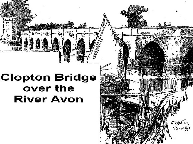 In the 1490s, Hugh Clopton paid for construction of Clopton Bridge, a stone bridge that still spans the river today.  This bridge enabled the routes from the south to be passable all the year round.