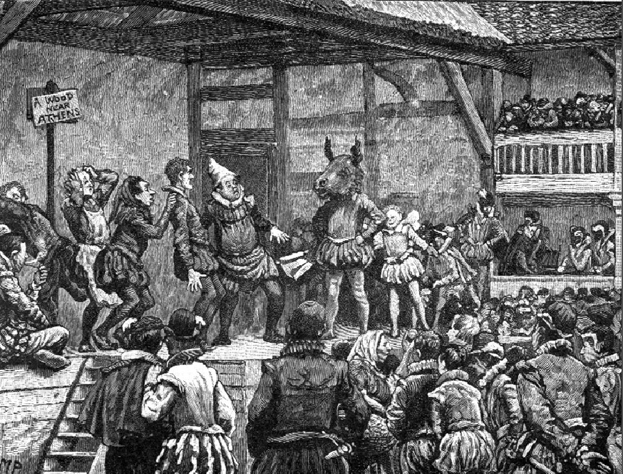 People had been watching and performing plays for centuries, groups of strolling players had been performing on the back of a cart, in inn yards or market places, but in Elizabethan England the commercial theatre was a new innovation.