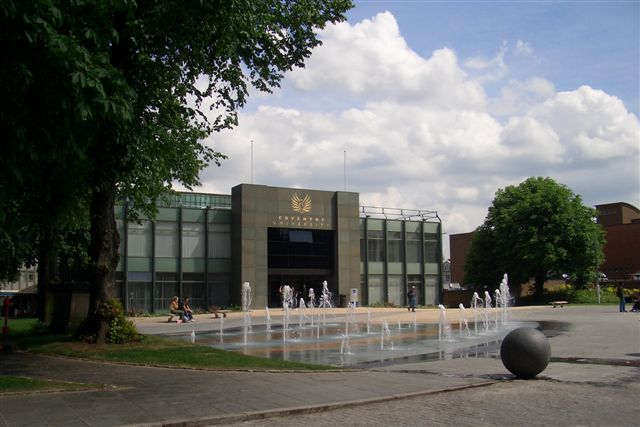 Just opposite the two Cathedrals in Coventry is the University of Coventry.