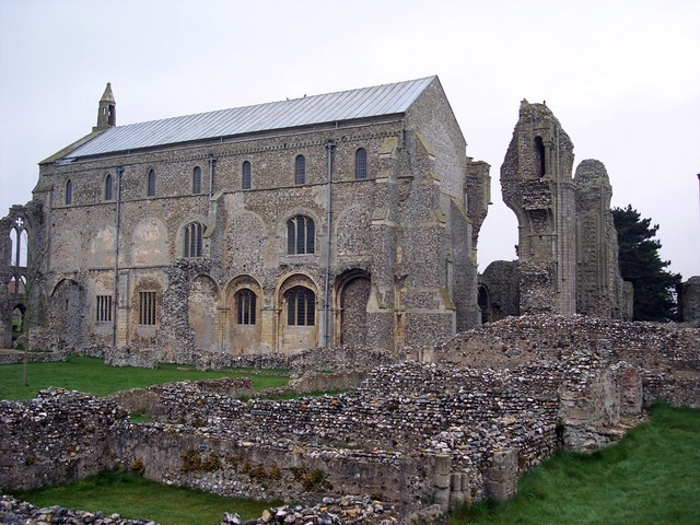 The Benedictine Binham Priory was founded around 1091 and closed in 1539 After the dissolution of the monasteries it seemed the priory would be dismantled. A well-known local man, Edward Paston, started to use the masonry to build himself a new manor house. However during the demolition a workman wa...