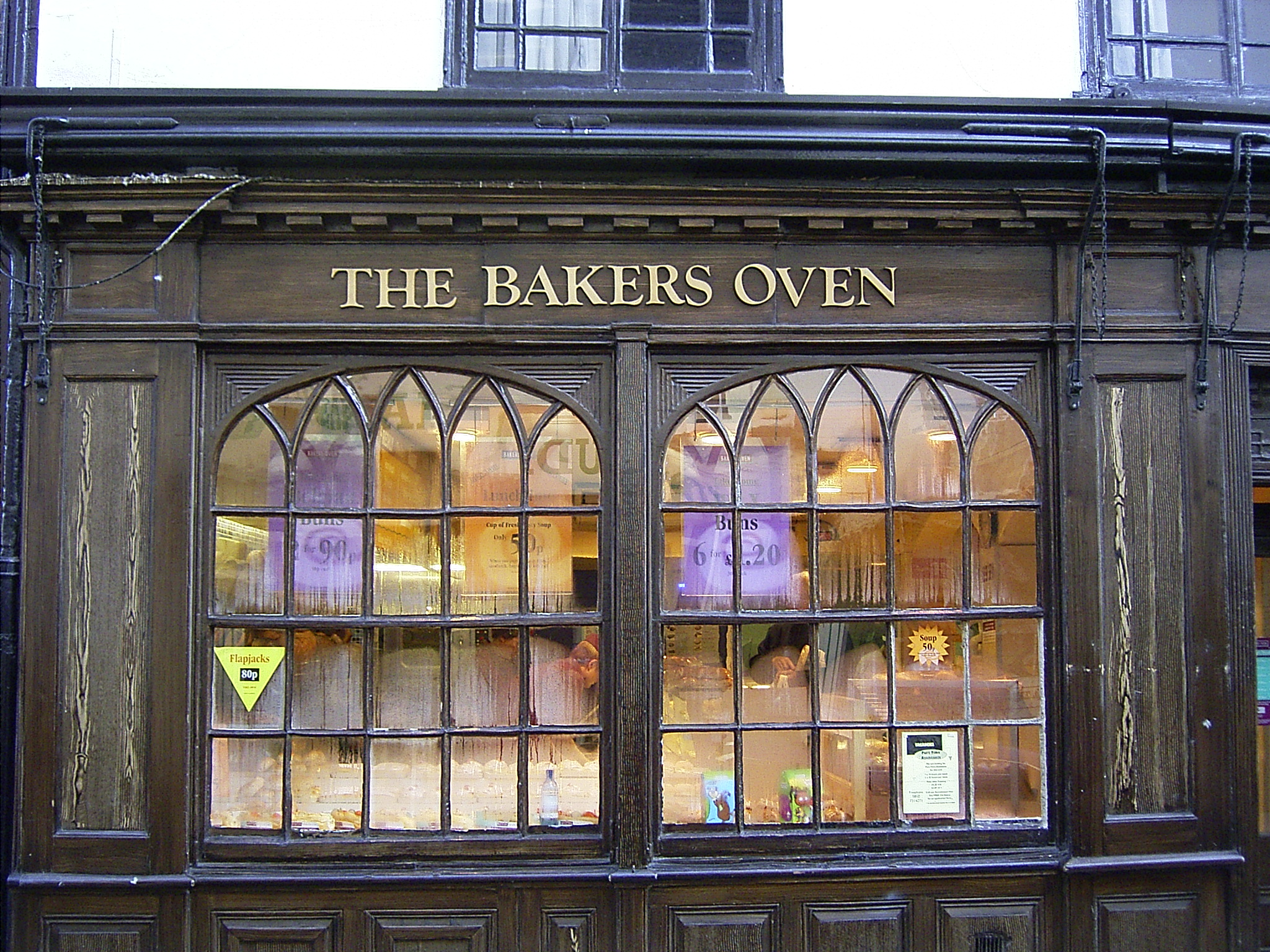Bakers shop in Bury St Edmunds, Suffolk, pictured summer 2004