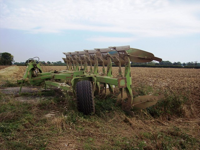 Plough in a field near Stagsden Bedfordshire, end of August 2005