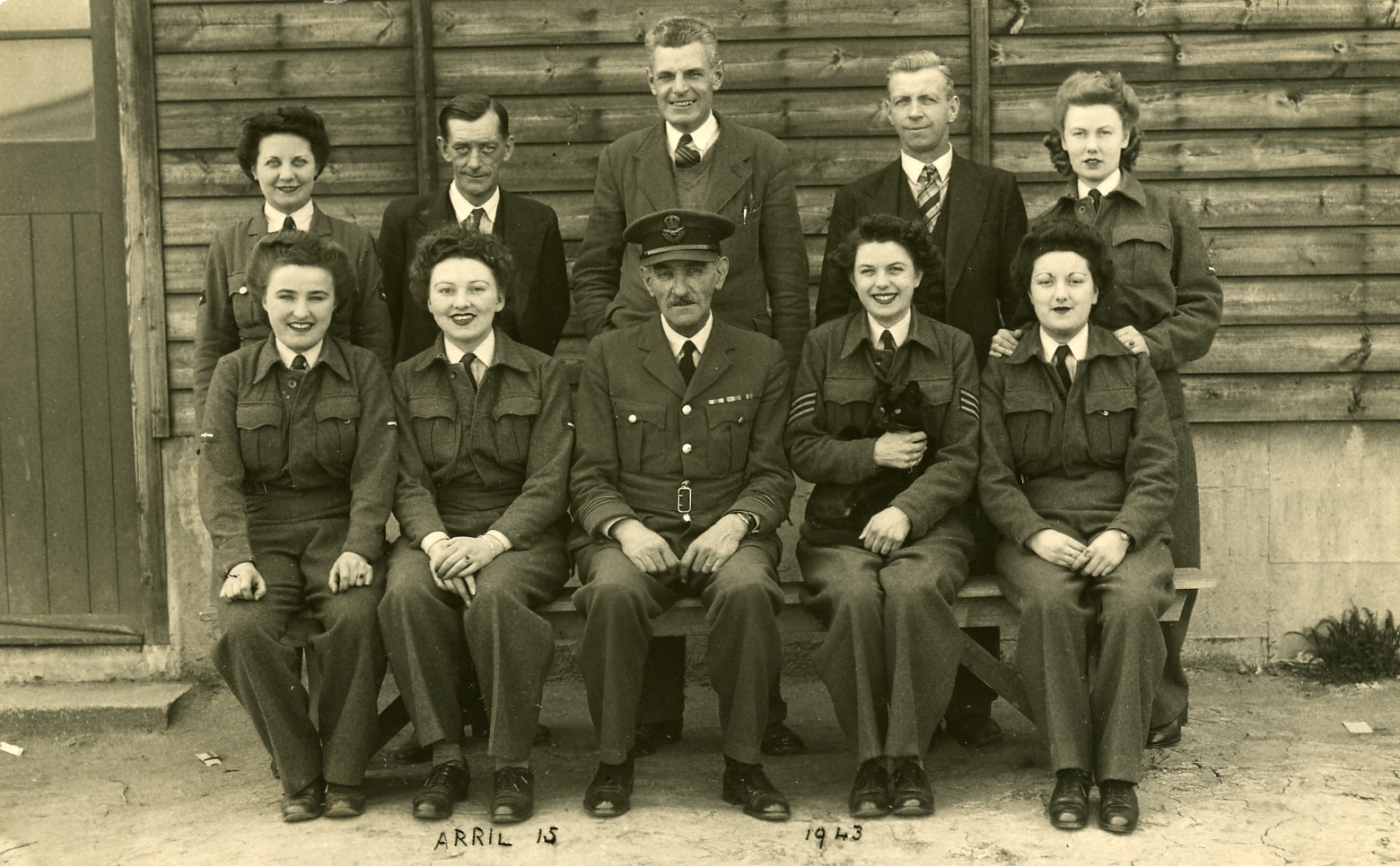 Pictured at Cardington Camp Bedford during WW2