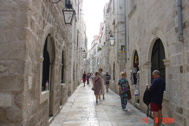 The Old Town's main street is called Stradun  or Placa. It is a, approximately 300 meters long and it runs from the Pile to Plo�e gates, following the line of the channel that once divided the town into two parts. The street came into being in the 12th century, was paved in 1468 and reconstructed af...