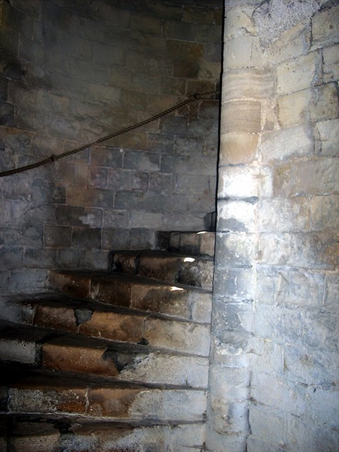 The Wild man was taken to the dungeons at Orford castle and kept there in chains.
