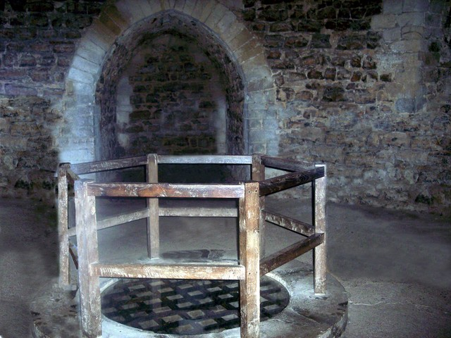 The dungeon in Orford Castle where the Wild man was kept and tortured around 800 years ago.