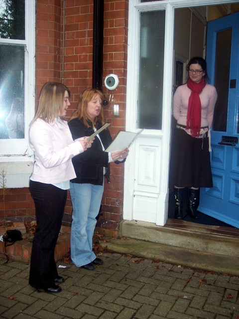 In the Victorian era, many new carols were written and became popular, as did the custom of singing carols round the streets.  Pictured Ampthill, Bedfordshire 2005.