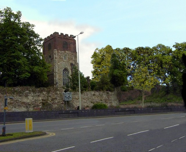 This is the 15th century church of St Mary by the Walls, mentioned in the story. You can clearly see the extensive damage that was caused in 1648 when the Parliamentary forces concentrated their fire at the church because Thompson, the one eyed gunner in charge of the cannon, said to be 'Humpty Dum...