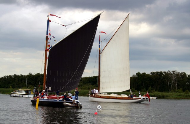 The design of the Wherry, which was based on a efficient fore-and-aft rig with gaff mainsail, was the result of centuries of experience by the people that worked the waterways of Norfolk.  It was these people that made Norwich a prosperous city supplying its industries and its population with the go...