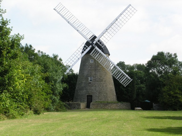 The Bradwell Windmill was erected around 1817 from local quarried limestone right next to the Grand Union Canal in what is now Milton Keynes.