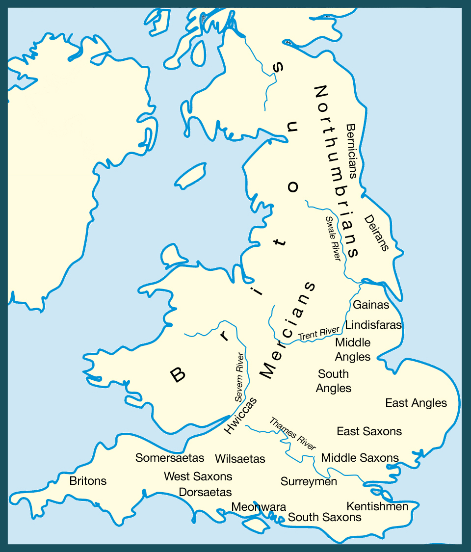 In 410, Honorius, the Roman Emperor withdrew his troops from Britannia (Britain).  Over the next century people from the coastland of Denmark, Germany, Frisia and the lower Rhine came in search of new land and settled in England.  These invaders were known as the Anglo-Saxons. They absorbed, displac...