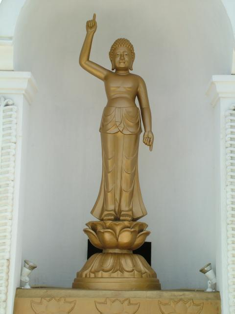 A gold covered statue of Buddha in Sri-Lanka