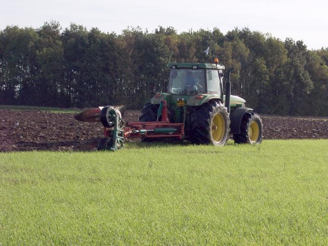 This field is being ploughed in readiness to be planted with Winter Wheat. Picture taken near Hinxworth, Hertfordshire, 12th October 2006.