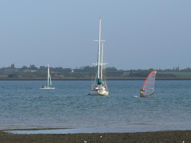 Sailing on the Blackwater near the village of St Lawrence.