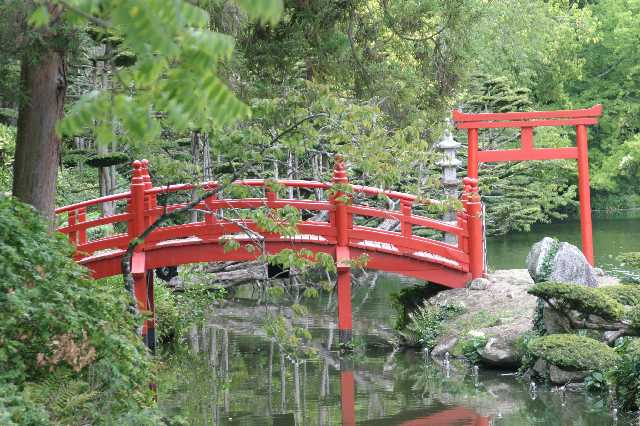 Image gallery japanese bridge for Japanese garden bridge
