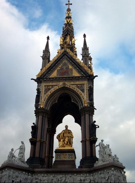 The memorial is located in Kensington Gardens,oppostie the Albert Hall. It was commissioned by Queen Victoria in memory of her husband, Prince Albert who died in 1861. The Gothic revival memorial was designed by Sir George Gilbert Scott. The sculptor Henry Hugh Armstead coordinated the work of sever...