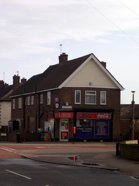 Corner shop in Bedford. Picture taken 30th December 2006.