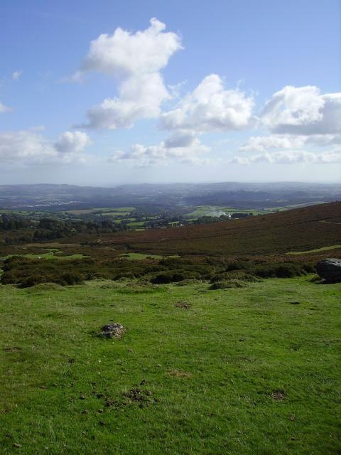 A view across the dartmoor countryside from Haytor.