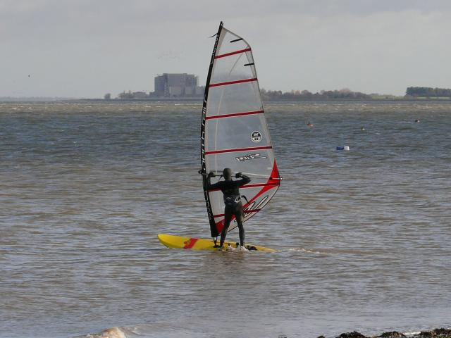 Windsurfing in the Blackwater Estuary.