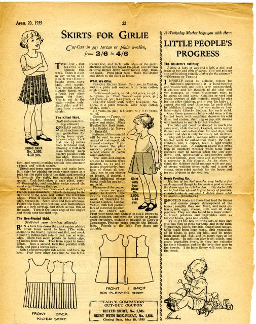 Women's magazines were full of tips on dressmaking, cooking, housekeeping and child rearing.