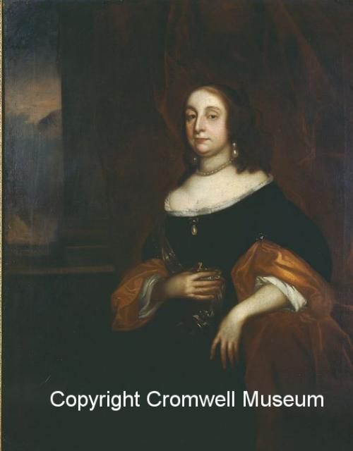 Elizabeth Cromwell, Oliver Cromwell's wife. Born Elizabeth Bouchier. Married to Oliver in 1620 at St Giles, Cripplegate, London. Known as the Lady Protectoress under the Protectorate. She survived Cromwell and was allowed to live out her life quietly with her son-in-law John Claypole at Northborough...