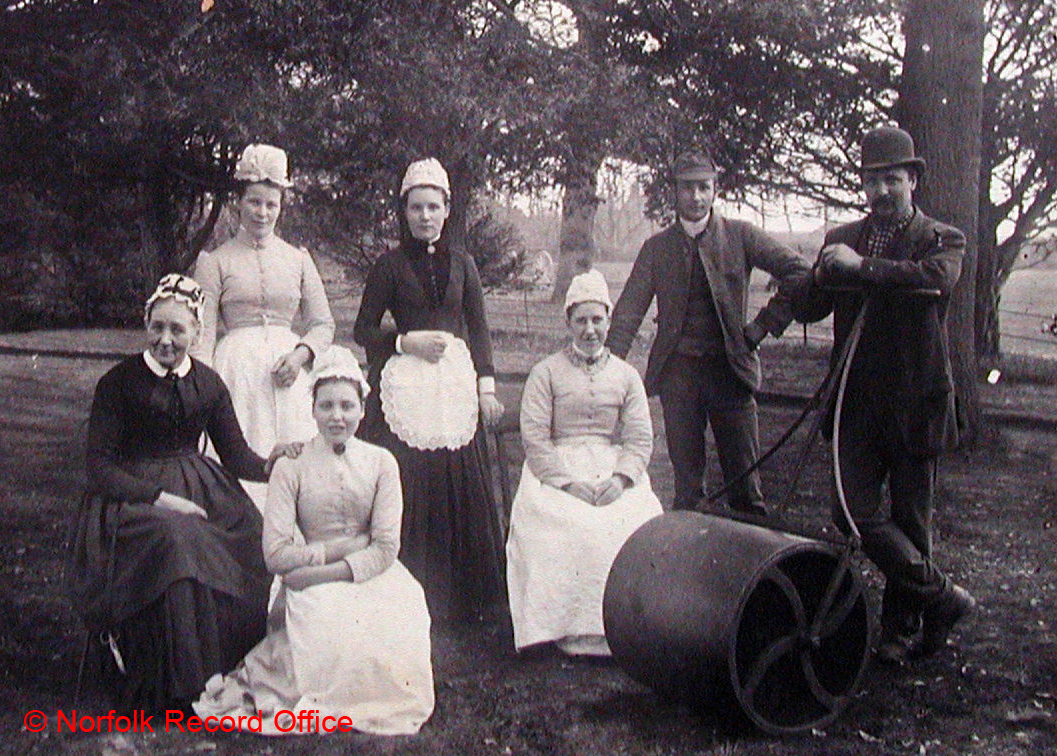 photograph of servants at belton rectory 1889 nen gallery
