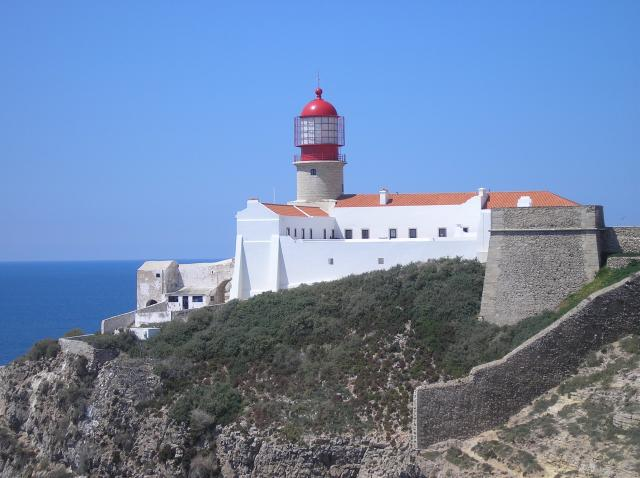 Cape St Vincent was believed to be the 'End of the World' until the discovery of The Americas. The cape is situated at the extreme south-west corner of Portugal. The limestone cliffs are very high indeed and are dominated by the lighthouse which is still regarded as so important that it has seven pe...