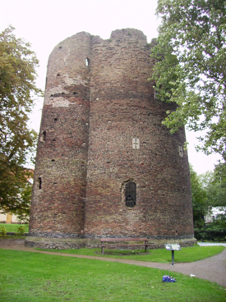 The Cow Tower, Norwich, NHER 632. Why do the walls of the tower curve? Copyright Norfolk Museums & Archaeology Service.