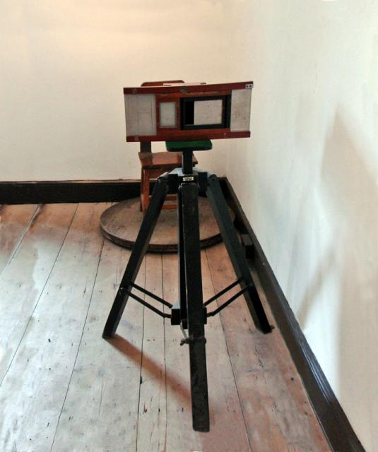 This is the sort of camera that was used to take prisoners photographs. As a tougher sentenced was passed if there had been previous conviction many criminals used aliases. To help identify criminals and stop this photography was introduced in some prisons.