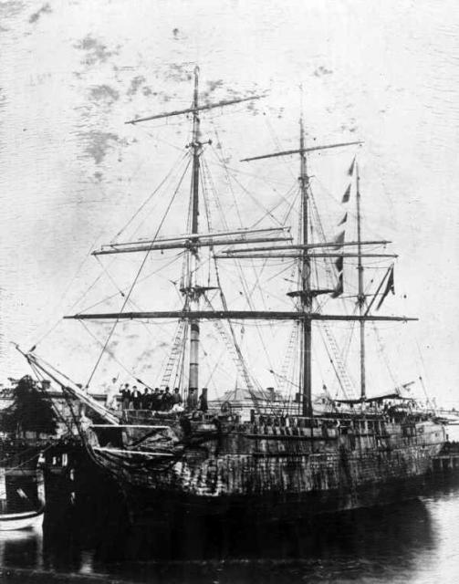 One of the ships that transported the convicts to Australia.
