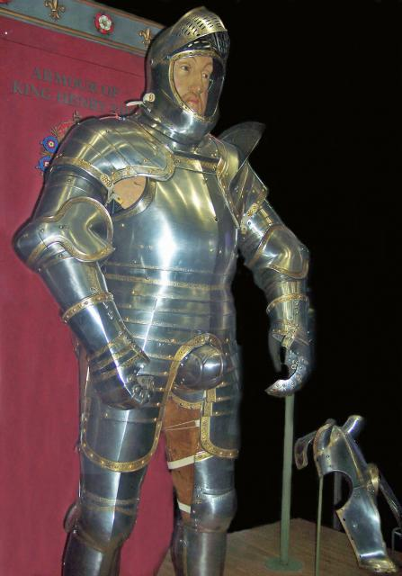 Henry's armour from his early twenties.