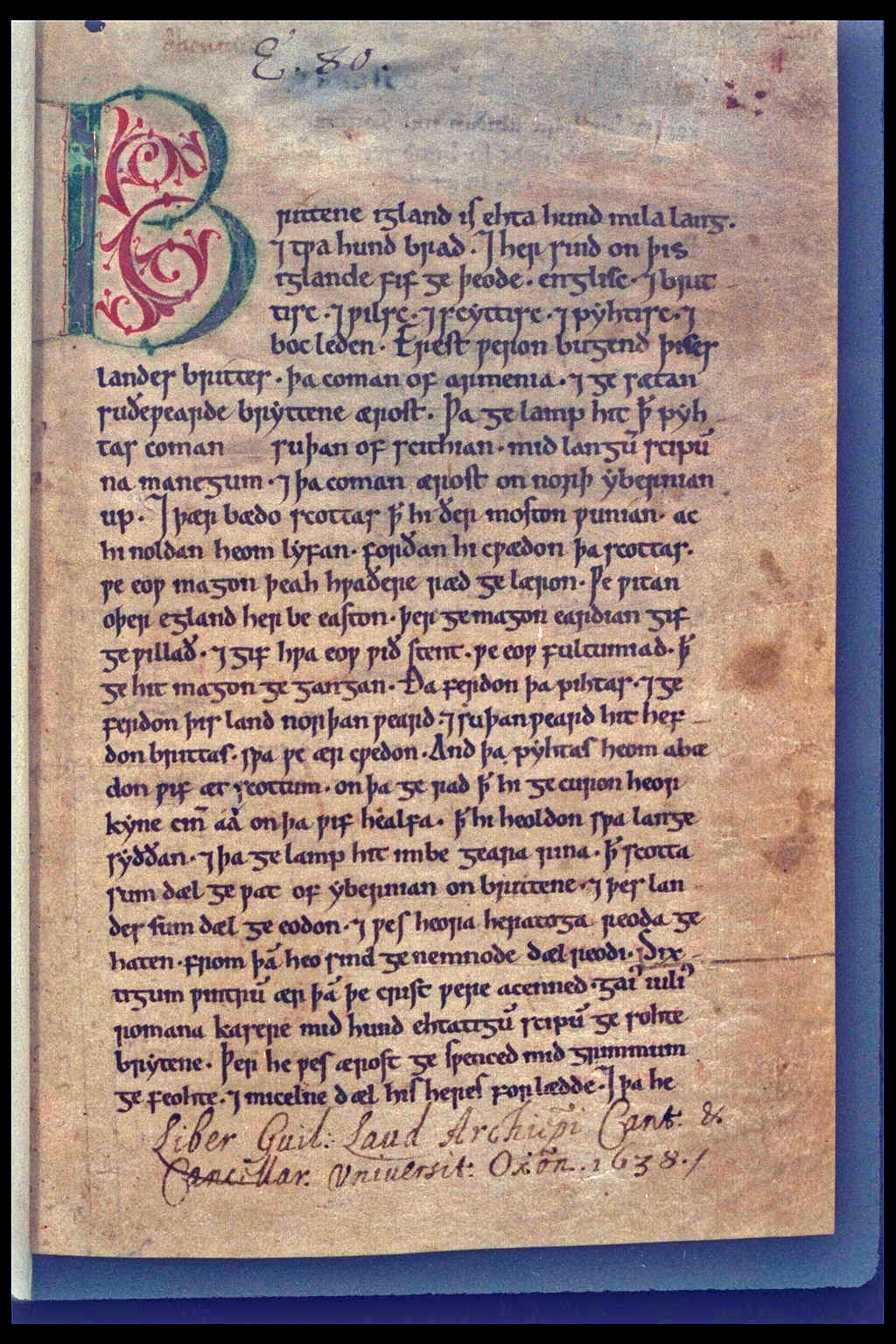 The Peterbrough Chronicle. The Anglo-Saxon Chronicles refer to a collection of old writings and manuscripts kept by monasteries across England. They are written in old English and tell the history of the Anglo-Saxons. The recording started in the 9th century during the reign of Alfred the Great and ...