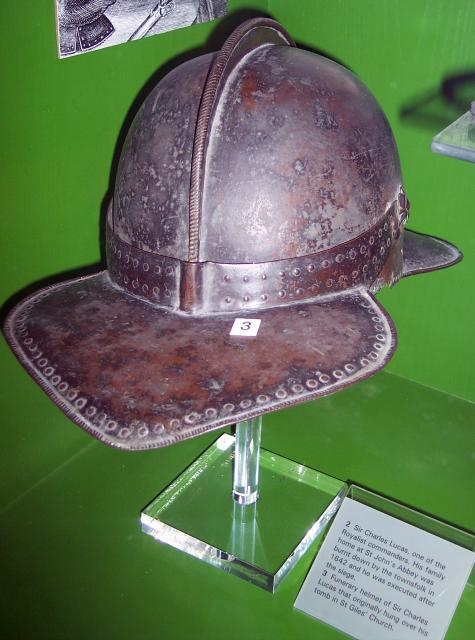 Soldier's Helmet. Picture taken at Colchester Castle Museum June 2007.