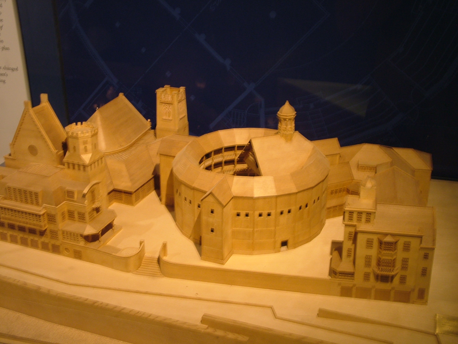 Model Of The Globe Theatre London NEN Gallery