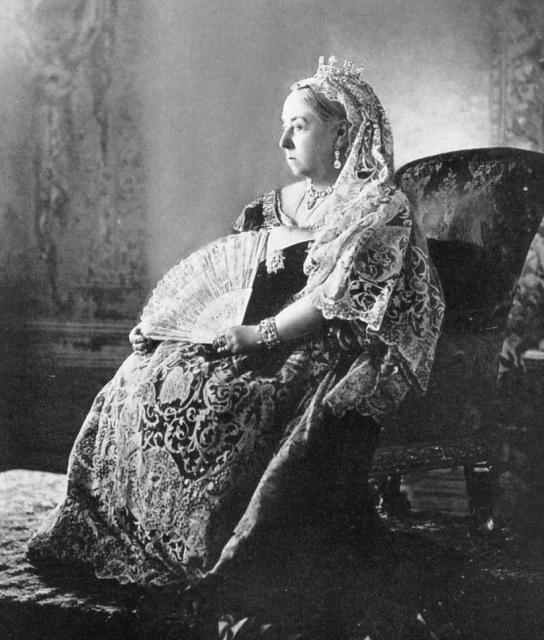 Queen Victoria in her Diamond Jubilee photograph. London, 1897.