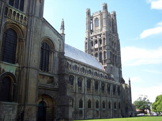 The present cathedral was started by Abbot Simeon (1082-1094) under William I in 1083. Building continued under Simeon's successor, Abbot Richard (1100-1107). The Anglo-Saxon church was demolished, but some of its relics, moved to the cathedral. The main transepts were built early on, crossing the n...