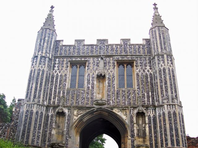 This 15th century gatehouse is virtually all that survives of the Benedictine Abbey of St. John founded in 1096 by an official of the Norman court of King William Rufus. It was supressed on the orders of King Henry VIII. The facade once looked out onto the medieval town of Colchester.  It is decorat...
