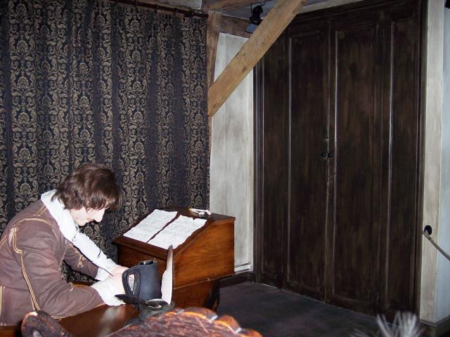 The study set out how it may have been in Cromwell's time. Picture taken June 2007.