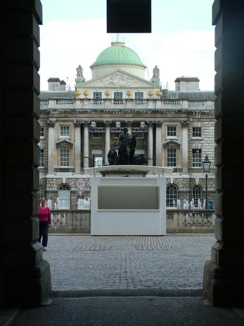 The first Somerset House, London was built in 1547 by Edward Seymour, the 'Protector' during the reign of the young Edward VI. After his downfall the building became royal property and became home to a number of queens of England including Elizabeth I and Catherine of Braganza. In the 18th century t...