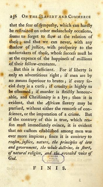 thomas clarkson essay slavery Thomas clarkson by carl thomas attended wisbech grammar clarkson published it in pamphlet-form in 1786 as an essay on the slavery and commerce of.
